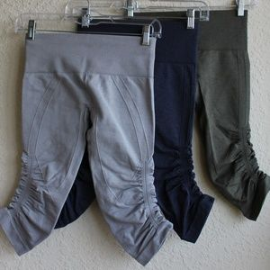 Lot 3 Lululemon In the Flow Crop Compression Pants